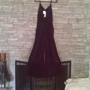 SANCTUARY Velvet Jumpsuit Medium NWT